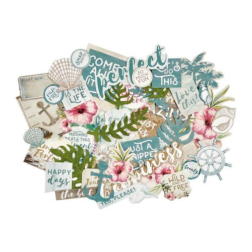Kaisercraft - Island Escape Collection - Collectables - Die Cut Cardstock Pieces
