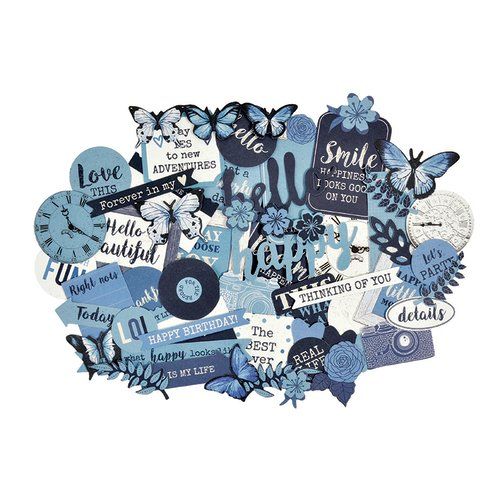 Kaisercraft - Indigo Skies Collection - Collectables - Die Cut Cardstock Pieces