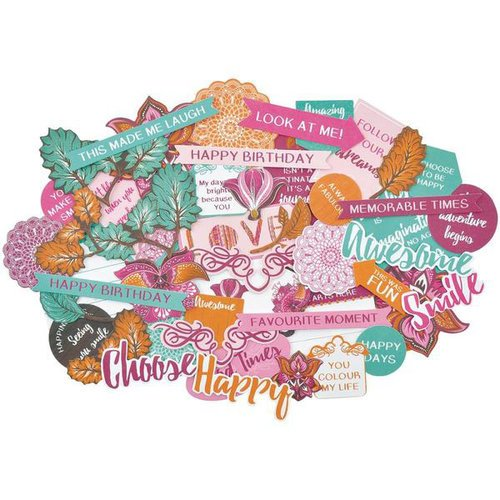Kaisercraft - Bombay Sunset Collection - Collectables - Die Cut Cardstock Pieces