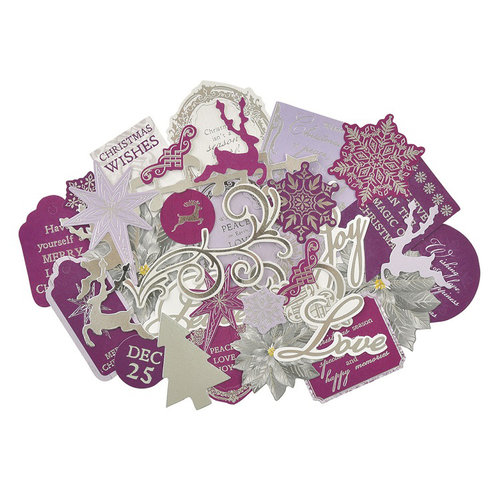 Kaisercraft - Christmas Jewel Collection - Collectables - Die Cut Cardstock Pieces with Foil Accents