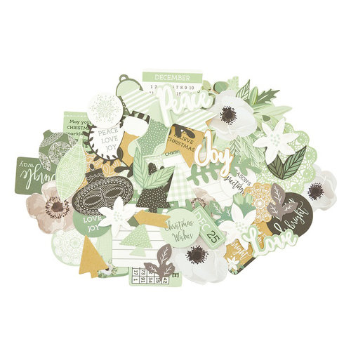 Kaisercraft - Mint Wishes Collection - Christmas - Collectables - Die Cut Cardstock Pieces