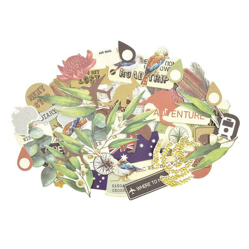 Kaisercraft - Open Road Collection - Collectables - Die Cut Cardstock Pieces
