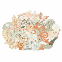Kaisercraft - Peachy Collection - Collectables - Die Cut Cardstock Pieces