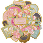 Kaisercraft - With Love Collection - Colored Collectables - Die Cut Cardstock Pieces