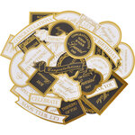 Kaisercraft - With Love Collection - White and Gold Collectables - Die Cut Cardstock Pieces