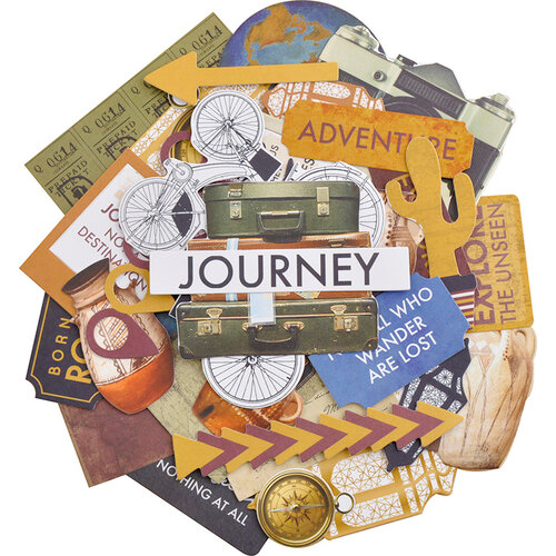 Kaisercraft - Journey Collection - Collectables - Die Cut Cardstock Pieces
