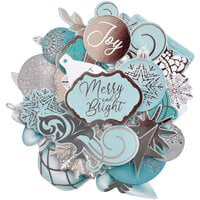 Kaisercraft - Christmas - Let It Snow Collection - Collectables - Die Cut Cardstock Pieces With Foil Accents