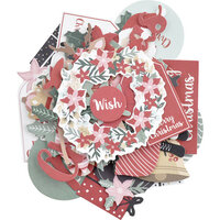 Kaisercraft - Christmas - Peppermint Kisses Collection - Collectables - Die Cut Cardstock Pieces