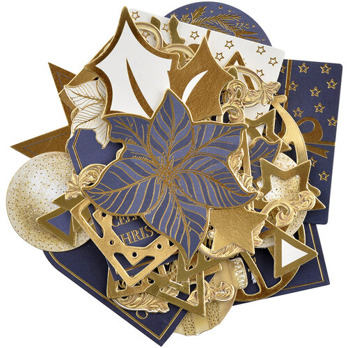Kaisercraft - Christmas - Starry Night Collection - Collectables - Die Cut Cardstock Pieces With Foil Accents
