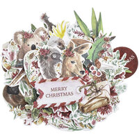 Kaisercraft - Christmas - Under The Gum Leaves Collection - Collectables - Die Cut Cardstock Pieces