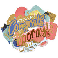 Kaisercraft - Oh Happy Day Collection - Collectables - Die Cut Cardstock Pieces with Foil Accents