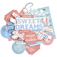 Kaisercraft - Little Treasures Collection - Collectables - Die Cut Cardstock Pieces - Sentiments