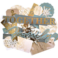 Kaisercraft - Emerald Eve Collection - Collectables - Die-Cut Cardstock Pieces - Sentiments