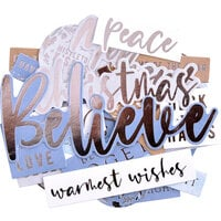 Kaisercraft - Whimsy Wishes Collection - Collectables - Die-Cut Cardstock Pieces - Sentiments
