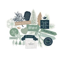 Kaisercraft - Mint and Mistletoe Collection - Christmas - Collectables - Die-Cut Cardstock Pieces