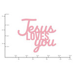 Kaisercraft - Decorative Dies - Words Jesus Loves You
