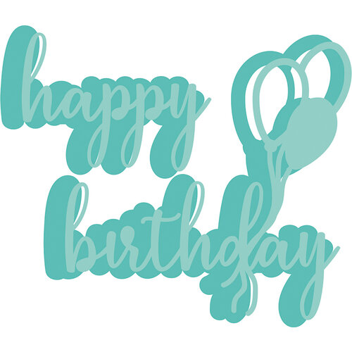 Kaisercraft - Decorative Die - Happy Birthday Balloons