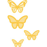 Kaisercraft - Decorative Dies - Flutter Layered Butterflies