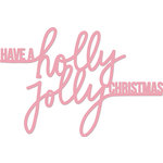 Kaisercraft - Christmas - Decorative Dies - Words - Holly Jolly