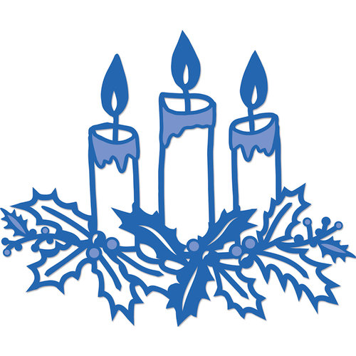 Kaisercraft - Christmas - Decorative Dies - Candle Centerpiece