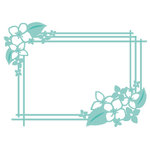 Kaisercraft - Decorative Dies - Hydrangea Rectangle