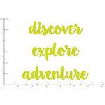 Kaisercraft - Decorative Dies - Adventure Words