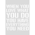 Kaisercraft - Decorative Dies - Quote Love What You Do - C6