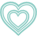 Kaisercraft - Decorative Dies - Nesting Scalloped Stitched Hearts