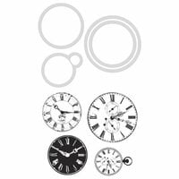 Kaisercraft - Decorative Dies and Clear Acrylic Stamps - Vintage Clocks