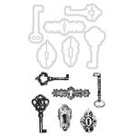Kaisercraft - Decorative Dies and Clear Acrylic Stamps - Keys and Locks