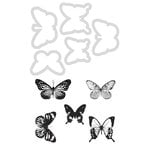 Kaisercraft - Decorative Dies and Clear Acrylic Stamps - Butterflies