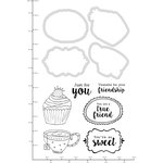 Kaisercraft - Decorative Dies and Clear Acrylic Stamps - Sweet Friends