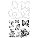 Kaisercraft - Decorative Dies and Clear Acrylic Stamps - Flutter