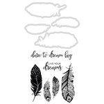Kaisercraft - Decorative Dies and Clear Acrylic Stamps - Feathers