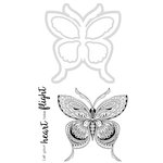 Kaisercraft - Decorative Dies and Clear Acrylic Stamps - Butterfly
