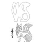 Kaisercraft - Decorative Dies and Clear Acrylic Stamps - Fox