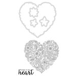 Kaisercraft - Decorative Dies and Clear Acrylic Stamps - Heart