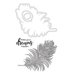 Kaisercraft - Decorative Dies and Clear Acrylic Stamps - Feather
