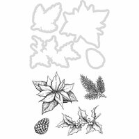 Kaisercraft - Christmas - Decorative Dies and Clear Acrylic Stamps - Poinsettia