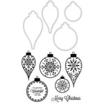 Kaisercraft - Christmas - Decorative Dies and Clear Acrylic Stamps - Flourish Baubles