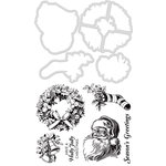 Kaisercraft - Christmas - Decorative Dies and Clear Acrylic Stamps - Season's Greetings