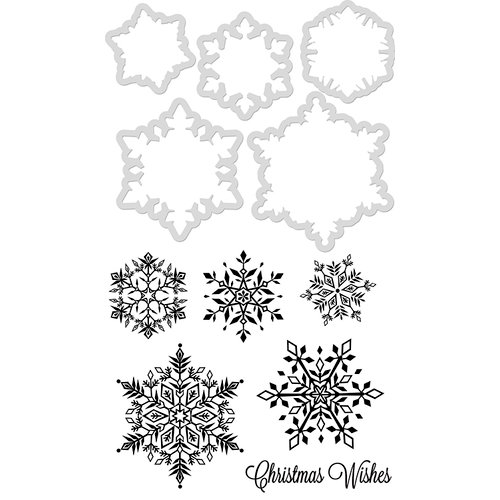 Kaisercraft - Christmas - Decorative Dies and Clear Acrylic Stamps - Snowflakes