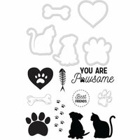 Kaisercraft - Decorative Dies and Clear Acrylic Stamps - Pawsome