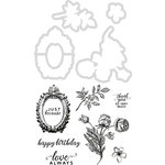 Kaisercraft - Sage and Grace Collection - Decorative Dies and Clear Acrylic Stamps