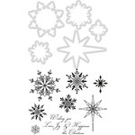 Kaisercraft - Decorative Die and Clear Acrylic Stamps - Snowflakes and Stars