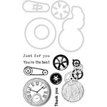 Kaisercraft - Decorative Die and Clear Acrylic Stamps - Mechanical Parts