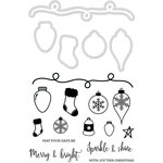 Kaisercraft - Decorative Die and Clear Acrylic Stamps - Christmas Garland