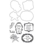 Kaisercraft - Decorative Die and Clear Acrylic Stamps - Frames and Flowers
