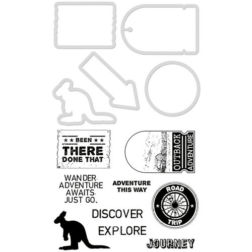 Kaisercraft - Decorative Die and Clear Acrylic Stamps - Adventure