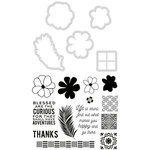 Kaisercraft - Decorative Die and Clear Acrylic Stamps - Tropics